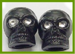 Novelty Valve Cap - Skull Black