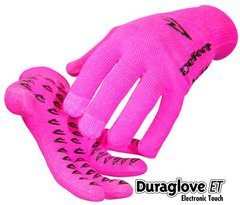 Neon Pink Electronic Touch Gloves - Medium