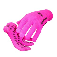 Neon Pink Electronic Touch Gloves -  Extra Small