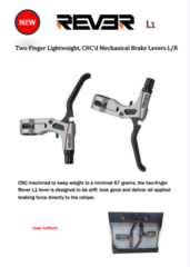 Rever L1 Mechanical Brake Levers R/L